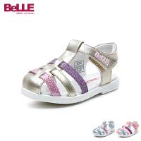 百丽Belle童鞋2018新款儿童凉鞋婴幼童学步鞋宝宝夏季休闲鞋(0-4岁可选) DE5938