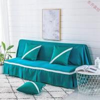 纯色全盖沙发罩巾单双三人沙发垫简约现代皮沙发套非能套