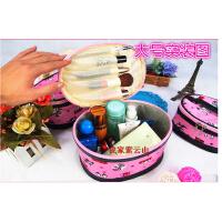 化妆包收纳包韩版清新可爱卡通防水大号圆筒型立体化妆品包