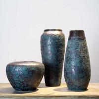 陶瓷花瓶三件套摆件客厅电视柜插花干花复古现代新中式装饰