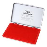 得力 (deli)9893 金属方形大号 印台(红色)