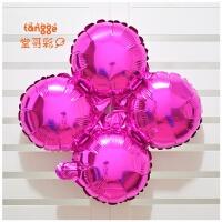 18寸活动开业四轮心形铝膜气球 气球柱拱门四叶草铝箔气球