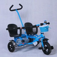 W 儿童三轮车脚踏车手推车双人双胞胎推车宝宝推车座可拆分1-3-5岁D28