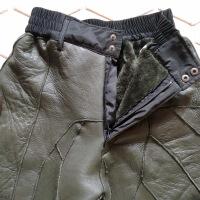 新款中老年羊剪绒皮毛一体裤高腰 裤内胆男女羊皮裤保暖棉裤
