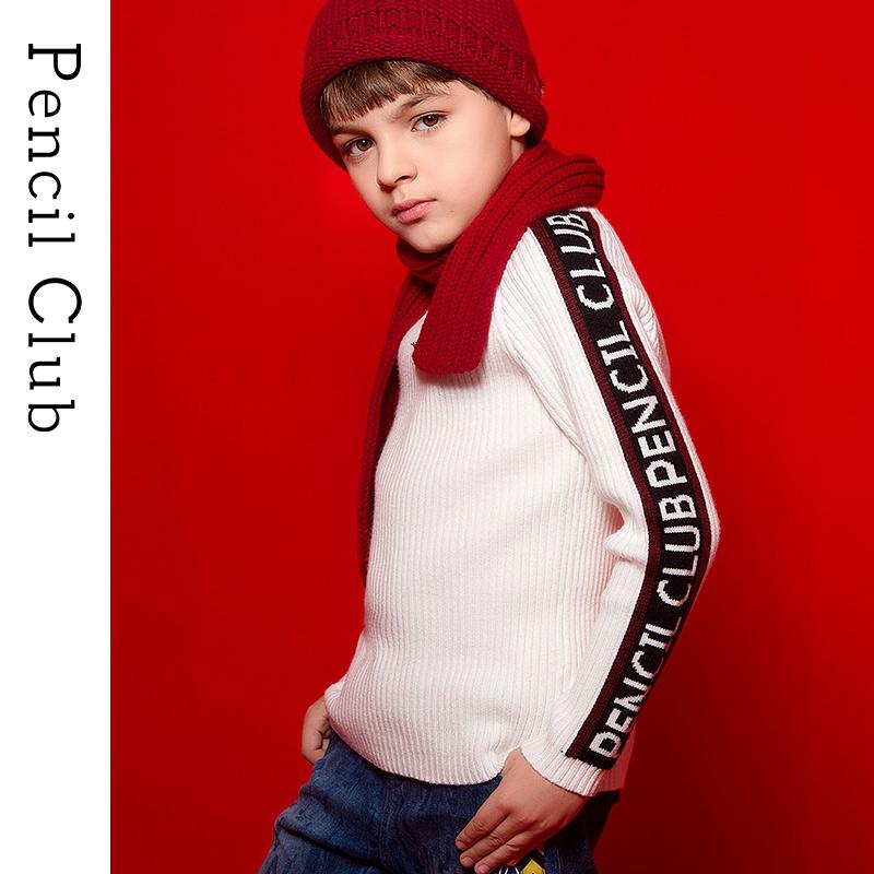 【3折价:45】铅笔俱乐部童装男童秋冬装毛衣2019新款儿童条纹毛线衣中大童针织衫