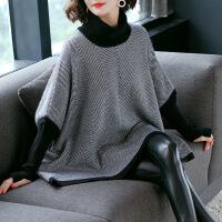 高领毛衣女2018新款韩版保暖袖网红风头套宽松针织衫上衣