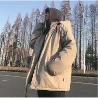 冬季中长款男士棉衣韩版潮流宽松外套嘻