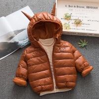 儿童装棉衣外套冬新款女童加厚0一1-2-3周岁男宝宝棉袄衣服潮
