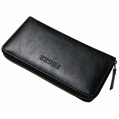 男士钱包长款韩版潮休闲拉链手包软皮青年个性男土竖款手拿皮夹子