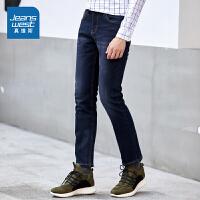 [超级大牌日每满299-150]真维斯牛仔裤男 冬装男装中腰弹力牛仔长裤青年裤子潮