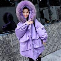 棉衣女冬季2018新款韩版中长款加厚小棉袄面包服外套