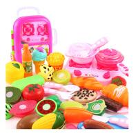 切切乐水果蔬菜玩具小女孩过家家厨房切切看拉杆箱儿童切水果玩具 豪华拉杆箱切切乐29件套-大厨具 送2盘子+1鸡蛋