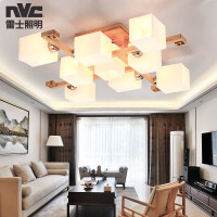 雷士照明 led客厅吸顶灯具简约现代大气实木卧室餐厅创意新中式灯