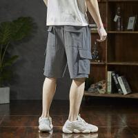 [2.5折价79元叠加200-30】唐狮夏新款港风多口袋工装短裤男士休闲短裤男潮五分裤宽松