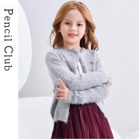 【3折价:69】铅笔俱乐部童装2019秋冬新款女童毛衣中大童长袖毛衫外套儿童毛衣