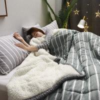 棉毯 冬天毛毯加厚珊瑚绒毯子薄被子盖毯法兰绒冬季空调毯午睡毯单双人床单 200cmx230cm 厂家直销-保证