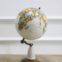 原装进口 美式/北欧风格装饰品 实木底座英文复古地图地球仪摆件