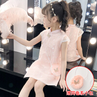 2019新款夏中国风女童旗袍夏装小女孩童装儿童中式礼服连衣裙