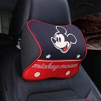 汽车头枕护颈枕一对记忆棉座椅头枕腰靠车内用品车用卡通靠背可爱