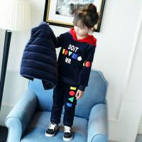 女童冬装套装2018新款洋气中大童金丝绒儿童三件套韩版潮童装加厚