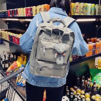 牛津布双肩包女韩版书包校园初中学生包全防水尼龙背包电脑包14寸