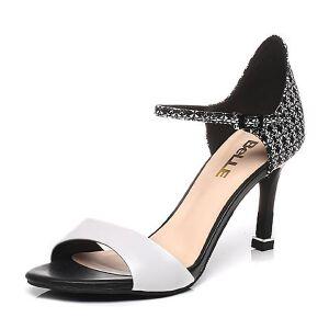 Belle/百丽夏季专柜同款牛皮细高跟女凉鞋BLWA4BL7