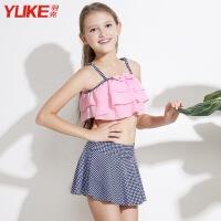 女童泳衣中大童游泳衣韩版性感女孩比基尼分体套装小学生儿童泳装