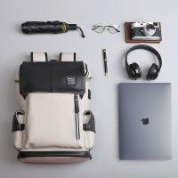 时尚潮流男士双肩包背包男学生书包通勤电脑包旅行包