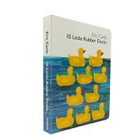 英文绘本 原版进口10 Little Rubber Ducks 10只橡皮小鸭子纸板书 [4-8岁]