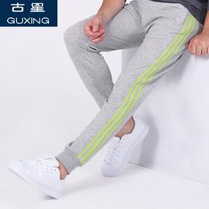 运动裤男春秋新款古星三条杠篮球长裤子休闲收口卫裤小脚哈伦裤潮