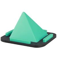 金字塔创意手机支架懒人床上用架子桌面通用架多功能硅胶手机底座 金字塔支架-金黄