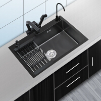 JOOMUWN纳米水槽单槽厨房洗菜盆304不锈钢手工槽家用洗碗池套餐kb6