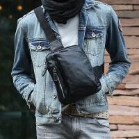 胸包 斜跨单肩韩版潮男式斜挎包男包包背包PU单根男士包袋
