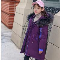 儿童羽绒服男女童中长款童装男女大童加厚冬装2018新款 韩版 洋气