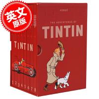 [现货]丁丁历险记1-8册 英文原版 Tintin Collection 收藏套装 (The Adventures o