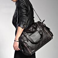 牛皮男包休闲单肩包韩版潮流男士包包复古真皮斜挎包手提包旅行包