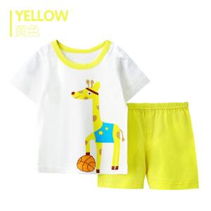歌歌宝贝夏季新款连体衣婴儿短袖套装宝宝短袖套装