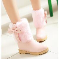 №【2019新款】冬天小朋友穿的冬靴棉靴子中�W生短靴少女雪地鞋公主靴小女孩女靴