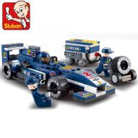 兼容乐高星球大战拼装积木F1赛车军事警察益智男孩机器人汽车玩具