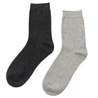 袜子棉袜男中筒冬季男士棉男袜子四季商务袜棉黑色短袜 黑色 共5双 均码