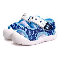 夏季包头软底鞋宝宝学步鞋宝宝凉鞋男0-1-3岁宝宝婴儿织布鞋子