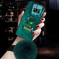 三星s7手机壳galaxys7套sm-g930f玻璃g9300个性 ins风祖母绿g930a女直屏s