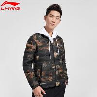 李宁羽绒服男款冬季BAD FIVE篮球男子保暖修身立领短羽绒运动外套