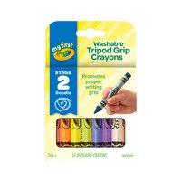 Crayola绘儿乐 81-1461 幼儿系列16色可水洗三角蜡笔 当当自营