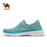 骆驼运动 女款舒适缓震休闲套脚鞋轻便透气一脚蹬网面懒人健步鞋