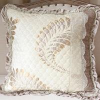 欧式卧室客厅沙发靠枕床头靠套腰枕可拆洗提花抱枕套不含芯可定制