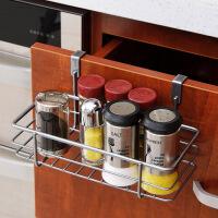 【年货节】ORZ 银色橱柜门挂篮创意 门后无痕下挂篮 厨房调味瓶架调料架
