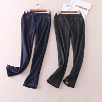 修身显瘦 百搭弹力仿牛仔色加厚加绒打底裤女士铅笔长裤冬 WD3339