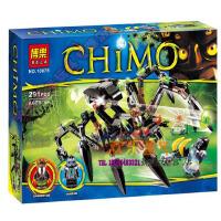 欢乐童年-博乐10075气功传奇系列毒螯蛛的蜘蛛追踪机70130拼装积木玩具