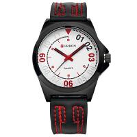 CURREN 卡瑞恩8153 男士皮带石英手表 休闲时尚防水皮带腕表